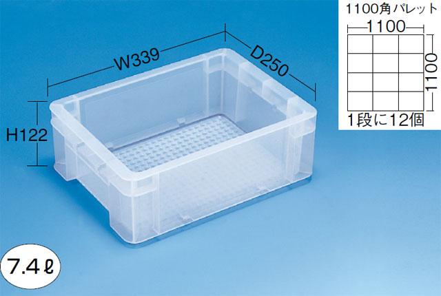 透明コンテナー(通い箱)7-2TM