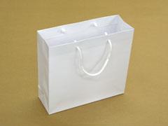 白地箔押し印刷手提げ紙袋マットホワイト(東京)