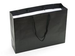 黒地箔押し印刷手提げ紙袋マットブラック(東京)